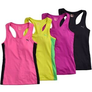 PUMA Girl Tank Top With Sports Bra Bustier Shirt Crop Fitness Running Gym Kids