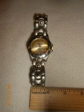 Men's No Boundaries heavy Quartz Watch Vintage Clasp band needs battery