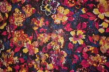 Multi Foil Floral ITY Print #84 Stretch Polyester Lycra Spandex Fabric BTY