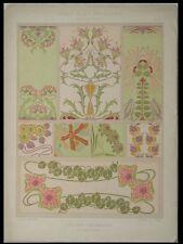 DECORS CERAMIQUES, HENRI GILLET -1900- LITHOGRAPHIE, ART NOUVEAU