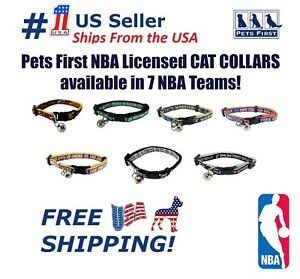 Pets First NBA Cat Collars - Licensed, Heavy Duty, Durable with Jingle Bells