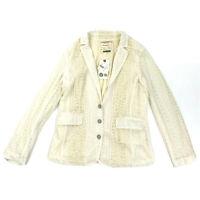 Cartonnier Anthropologie Cream Lace Lupe Blazer Jacket Size Medium Womens NEW