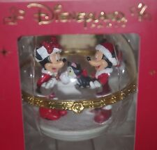 Disney Limited Edition Mickey and Minnie Mouse Glass Ornament Christmas bauble