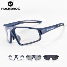 ROCKBROS Bicicleta Photochromic Gafas De Sol Gafas De Ciclismo Para Pc Split Azul Transparente
