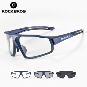 ROCKBROS Bike Photochromic Sunglasses Sport Split PC Cycling Transparent Goggles