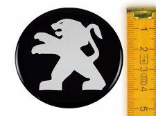 PEUGEOT ★ 4 Stück ★ SILIKON Ø50mm Aufkleber Emblem Felgenaufkleber Radkappen