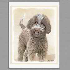 6 Lagotto Romagnolo Truffle Dog Blank Art Note Greeting Cards