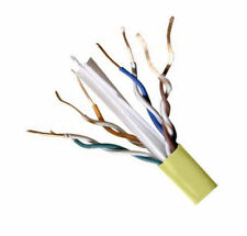 Lot of 2 - CAT6E Ethernet 550MHz CMR Cable Yellow 1000FT 23 AWG COPPER - NOT CCA