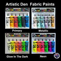 Fabric Paint Kits  - 6 x 50ml  - Assorted Fabric Paint Sets - Artistic Den