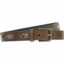 DOLCE & GABBANA Uomo Marrone Chiaro Cintura Borchiata SZ 95-Nuovo con Scatola