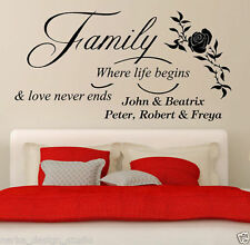 Personalised Words & Phrases Wall Decals