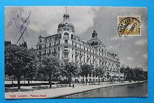 AK Luzern 1909 Palace Hotel Gebäudeansicht Promenade Tennisplatz Architektur