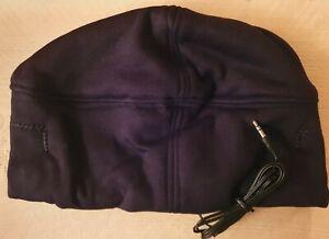 Beanie Hat With Headphones One Size Black Polar Fleece Buy One Get One Free NEW