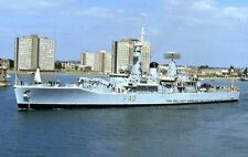 ROYAL NAVY LEANDER CLASS FRIGATE HMS SIRIUS SAILS FROM PORTSMOUTH