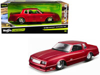 1986 Chevy Monte Carlo SS Candy Red 1:24 Diecast Model - Maisto 32530RD