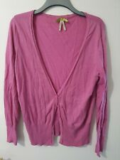 Next Long Sleeve Purple Buttoned Cardigan Size 18