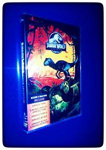 JURASSIC PARK 5 FILM IN DVD - LA SERIE COMPLETA - (COFANETTO NUOVO SIGILLATO)