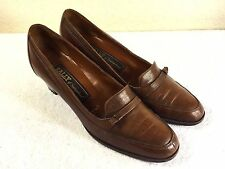 Bally of Switzerland womens brown leather pumps size 7 AA So Nice!!