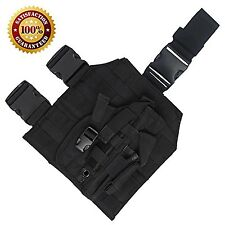 Tactical MOLLE Drop Leg Platform with Included Detachable Holster