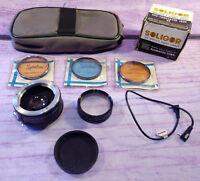 Large Lot Camera Lenses Vivitar Japan Spiratone Soligor Teleconverter 2X Vintage