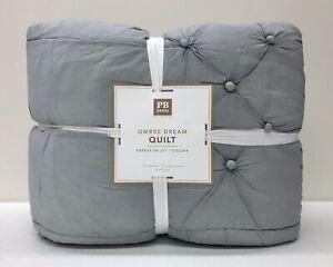 NEW Pottery Barn TEEN Ombre Dream FULL/QUEEN Quilt~Faint Blue, Gray