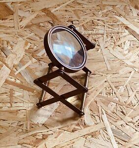 Vintage Style Desk Top Magnifier Nautical Brass Magnifying Glass