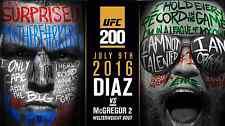 CONOR McGREGOR v NATE DIAZ UFC 200 MMA PROMO POSTER