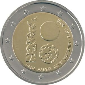 2 Euro Estonia 2018 * 100th Anniversary - Estonia * Unc