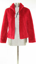 GUESS JEAN GLAMOUR - Women's Size S Red Beaver Faux Fur Jacket