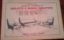 GIUSEPPE SALA - PROGETTI ORIGINALI DI SALOTTI E MOBILI IMBOTTITI, 1959