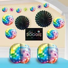 Disco 1970's Party Supplies 10 pcs. DECORATING KIT Groovy Nights 70's Decade