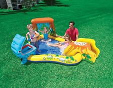 Intex Inflatable Children Dinosaur Play Center Paddling Pool Water Slide Sprayer