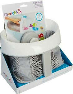 Munchkin Super Scoop Bath Toy Organizer One Size Gray/white