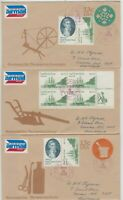 Stamps 1978 USA Captain Cook issue on group of 3 different cover Hawaii postmark