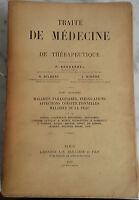 1897 Tratta Medicina Malattie Parasitaires Volume III Baillière Parigi IN 4 Be