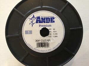 Ande Premium Mono Line Clear 30# 1600 yds.