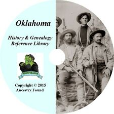 86 old books - OKLAHOMA - History & Genealogy - Ancestry, Family Tree -DVD