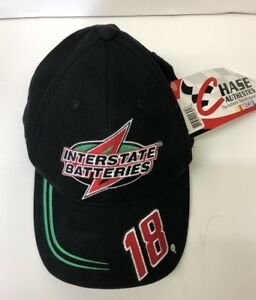 BOBBY LABONTE INTERSTATE BATTERIES #18 NASCAR GREEN HAT/CAP STRAPBACK NEW /W Tag