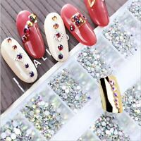 SS3-SS10 (1.3-2.7mm) FLAT BACKED GLASS RHINESTONE CRYSTAL PACKAGE NAIL ART