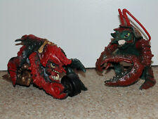 "1990s Mattel Street Sharks 7"" Slobster & Slobster-Zooki Motorcycle Figure Lot"