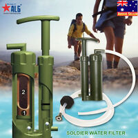 Portable Water Filter Purifier Army Soldier Hiking Camping Outdoor Survival