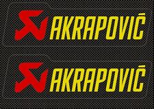 Akrapovic Decals Stickers for Exhaust Graphic Factory Set Vinyl Adhesive Carbon