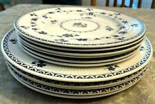 "11 Pcs Royal Doulton Yorktown Blue Grapevine 9"" Salad & 10 3/4"" Dinner Plates"