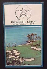 Vtg Rare - Sandestin Links Golf Scorecard - Destin, Florida - Unused