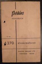 Perkins Dieselmotor 4.270 Handbuch