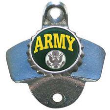 ARMY Wall Mount Stationary Bottle Opener Zinc Aluminum NEW!