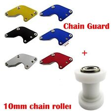 Chain Guard Swingarm Guide + 10mm Chain Roller Pulley Tensioner Dirt Pit Bike