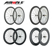 AIRWOLF 700C Carbon Road Wheelset Bike Racing Bicycle Wheels Rim Brake Clincher