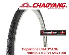 "1 Copertone CHAOYANG 700x35 (37-622) Scanalato Nero per Bici 28"" Trekking Strada"