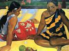 Paul Gauguin Two Women From Tahiti Old Art Painting Picture Canvas Art Print